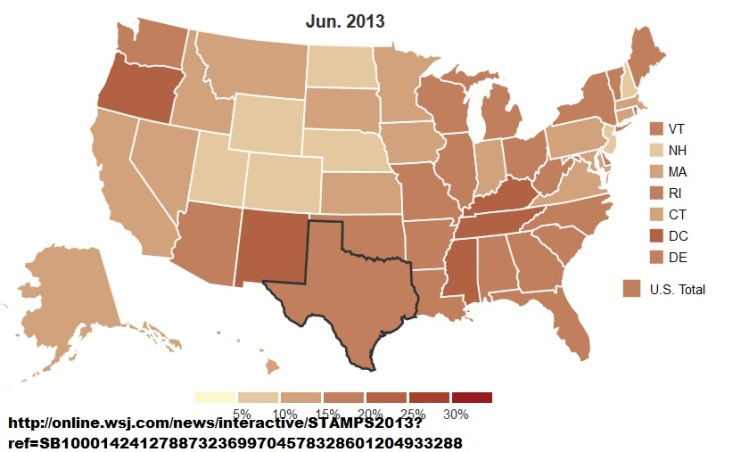 Food Stamps Map WSJ