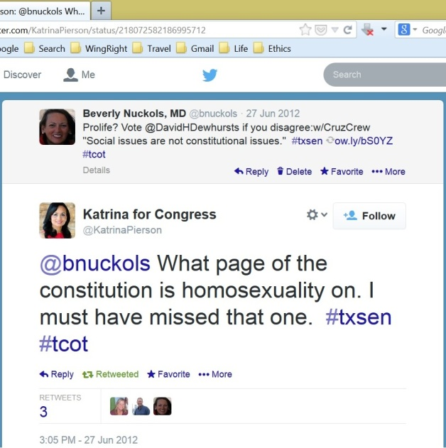 Pierson Homosexuality not in constitution