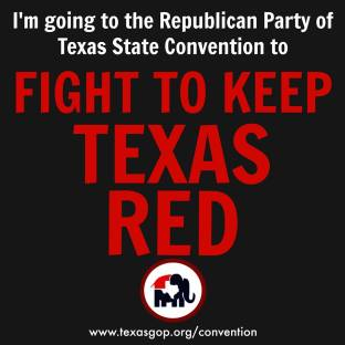 going to convention keep it red