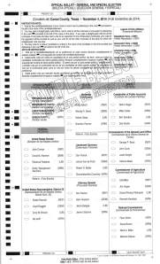 Precinct 2 Sample Ballot with Write-in Candidates_Page_1