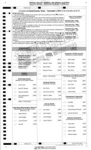 Precinct 3 Sample Ballot with Write-in Candidates_Page_1