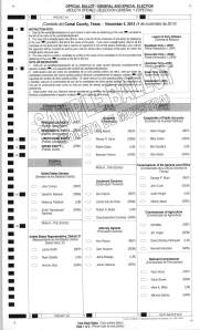 Precinct 4 Sample Ballot with Write-in Candidates_Page_1